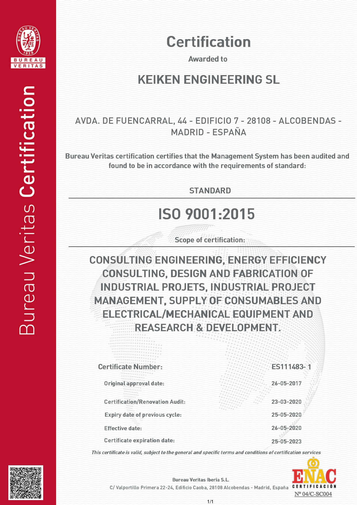 6676180-BUP-KEIKEN ENGINEERING SL-INGLÉS